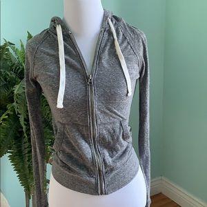 Junior Girls SO Grey Zip Up Sweatshirt